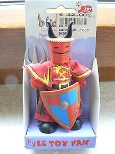 Marionetta Minifigure Cavaliere Rosso Le Toy Van BK964
