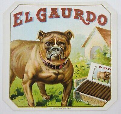 dog American Bulldog original outer cigar box label