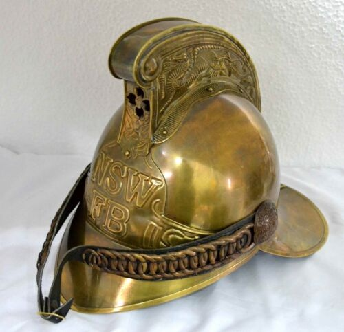Antique Brass Fireman Fire Fighter Helmet Fire Brigade helmet