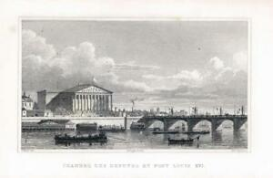1831 Antique Print  FRANCE Paris CHAMBRE DES DEPUTES ET PONT LOUIS XVI 133 - KENT, United Kingdom - 1831 Antique Print  FRANCE Paris CHAMBRE DES DEPUTES ET PONT LOUIS XVI 133 - KENT, United Kingdom