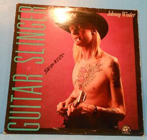 JOHNNY-WINTER-GUITAR-SLINGER-VINYL-LP-1984-ORIGINAL-PRESS-GREAT-COND-VG-VG