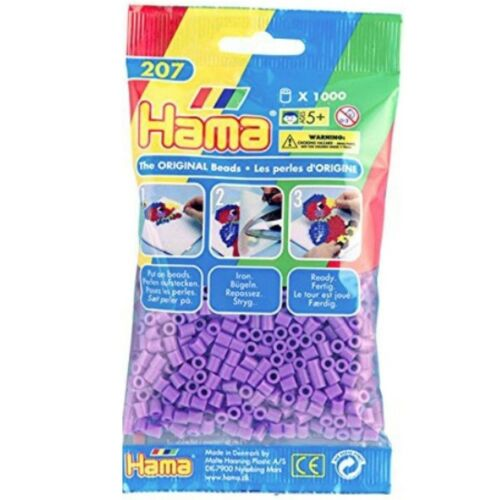 ab 5 J Hama Bastelperlen 1.000 Stück Bügelperlchen pastelllila Beads