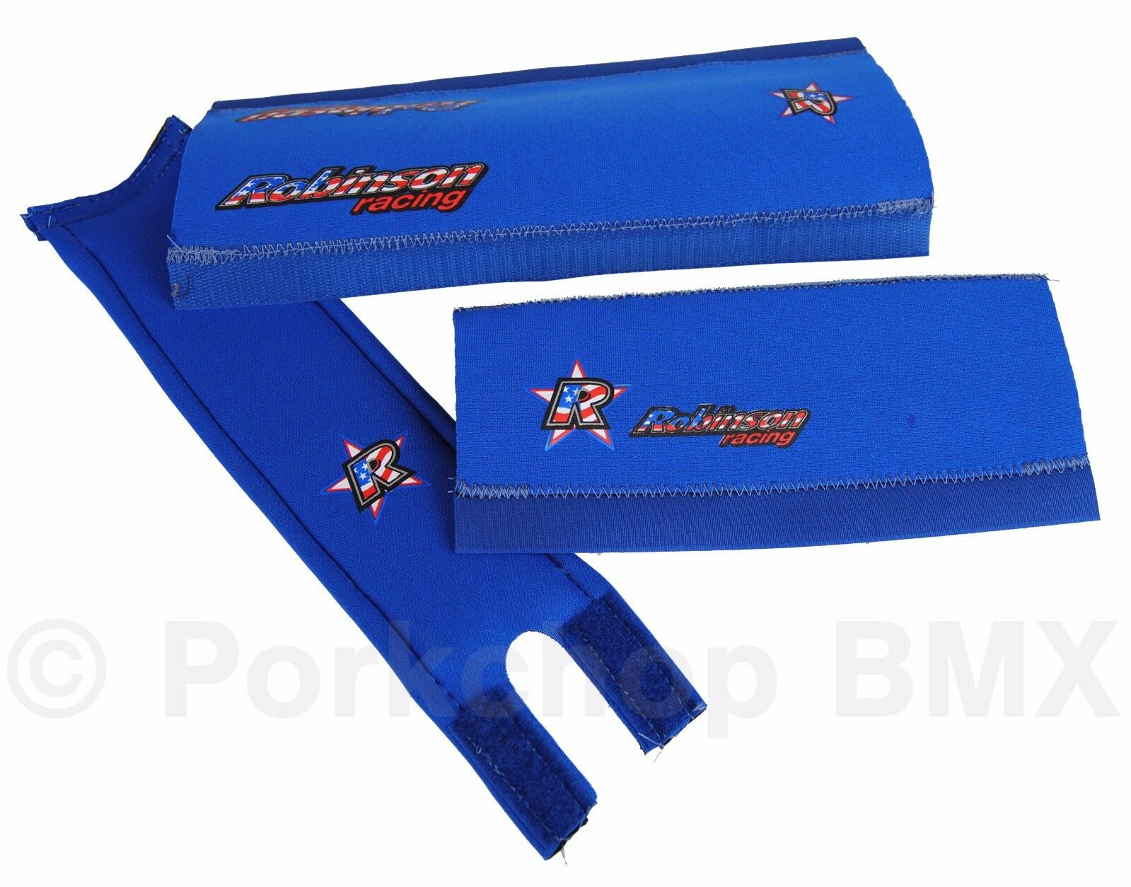 NEW 1995+ Robinson old mid school BMX neoprene padset pads MADE IN USA - blueE