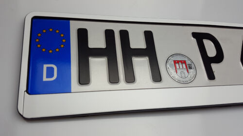 2x Kennzeichenhalterung Kennzeichenhalter Kennzeichenrahmen weiß HP