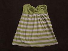 Womens Juniors Gilly Hicks Green Stripe Lightweight Strapless Top Soft XS S