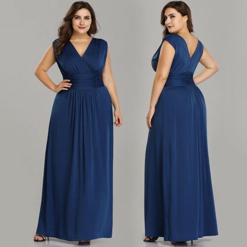 UK Ever-Pretty Plus Size Mother Of Bride Dresses Long Formal Evening Party Gowns