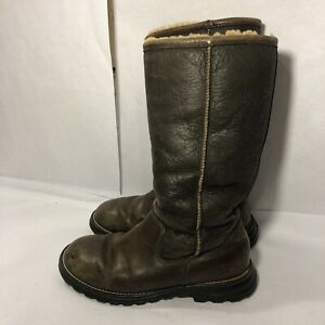 """67f1c7b9c2f Details about Ugg Australia Women's """"Brooks"""" Tall Boots In Brown/Black Size  6"""
