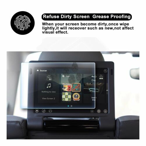 2P 2016-2018 Chrysler Pacifica Display 10In Rear Seat TV Glass Screen Protector