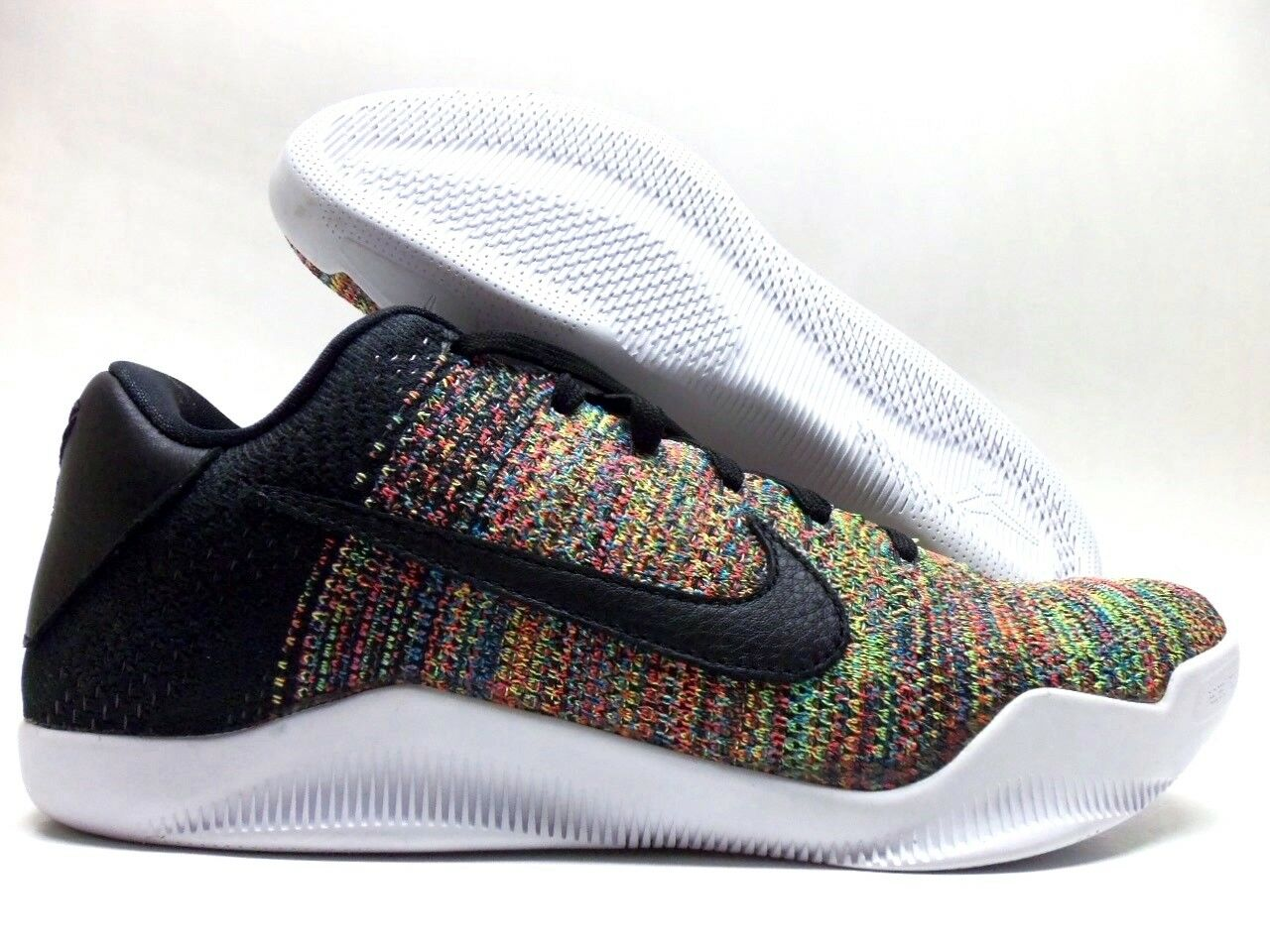 finest selection 4dbe5 2833a ... coupon for nike kobe xi 11 flyknit faible id multi color noir flyknit  élite hommes 8
