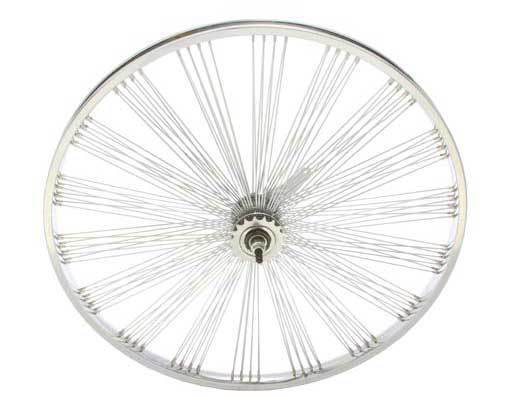 LOW RIDER LOWRIDER BIKE bicycle 26  Fan 144 Spoke REAR Coaster Wheel 14G Chrome
