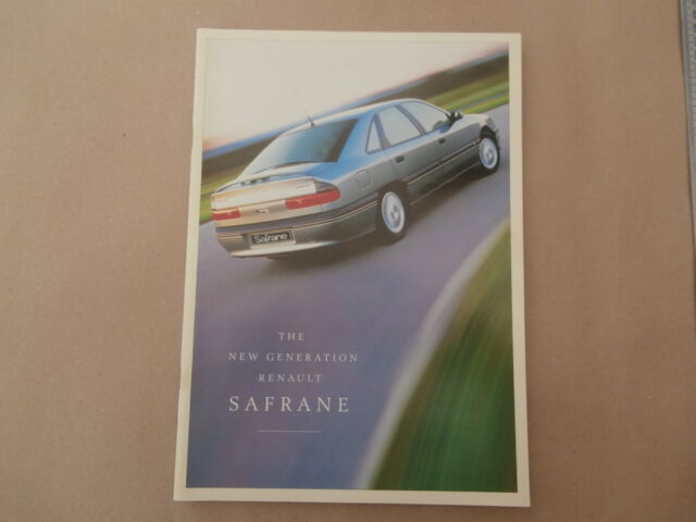 Renault Safrane Brochure November 1996 Post Uk Ebay