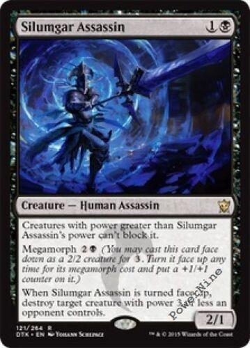 4 FOIL Silumgar Assassin Black Dragons of Tarkir Mtg Magic Rare 4x x4