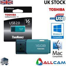 Toshiba TransMemory U202 16GB Memory Stick Pen Flash Drive USB 2.0 - Aqua Blue