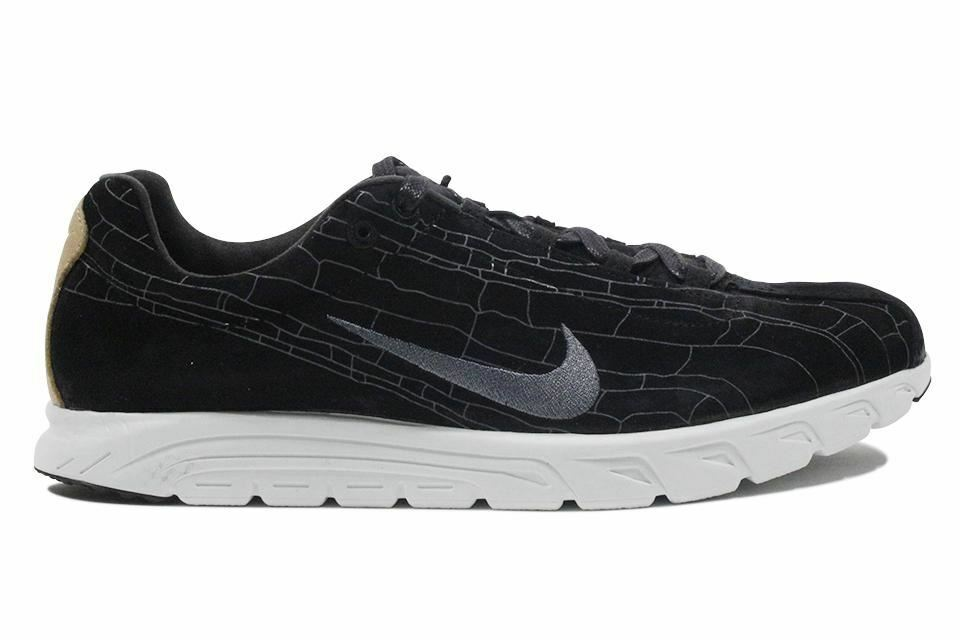 Nike? Mayfly?Leather Premium Black Dark Grey