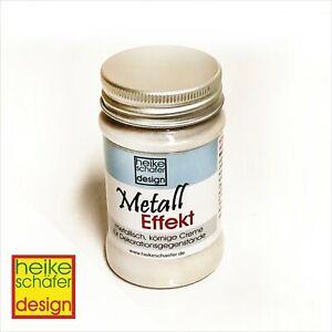 Metall-Effekt-Creme-in-Weiss-90ml-Neu-Heike-Schaefer-Design