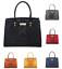 New-Women-Large-Faux-Croc-Leather-Gold-TurnLock-Finish-Tote-Handbag-Shoulder-Bag Indexbild 1