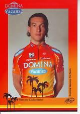 CYCLISME carte cycliste SIMONE CADAMURO équipe DOMINA VACANZE 2005