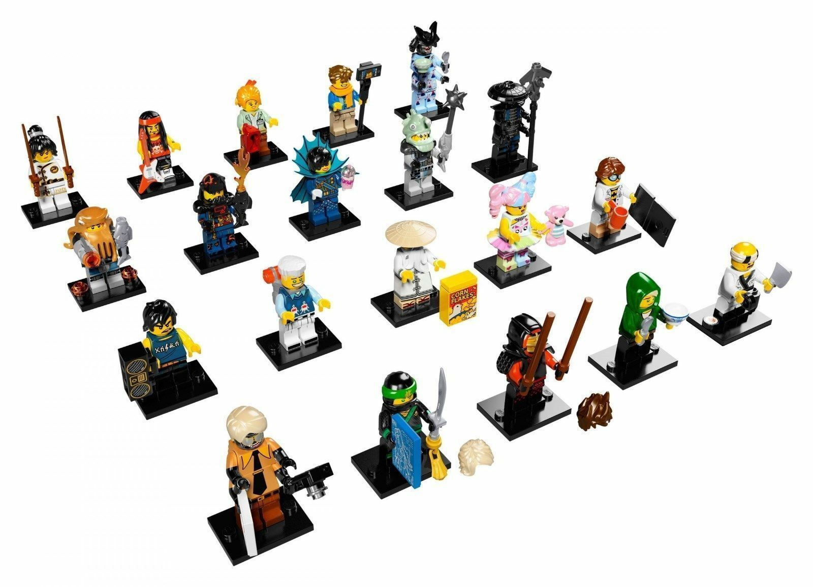 LEGO 71019 – 20 MINIFIGURES SERIE COMPLETA NINJAGO MOVIE SET 2017