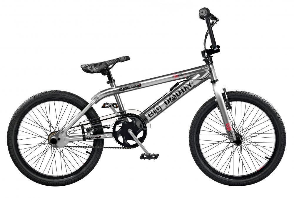 2019 Rooster Big Daddy Kids 20  Wheel Freestyle BMX Bike Chrome Gyro RS128