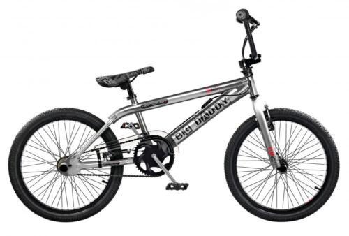 "2019 Rooster Big Daddy Kids 20/"" Wheel Freestyle BMX Bike Chrome Gyro RS128"