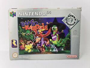 Banjo-Kazooie N64 Nintendo 64 PAL sólo cartucho y caja