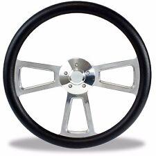 """18"""" Peterbuilt Kenworth Semi Truck Big Rig Steering Wheel Black Grip on Billet"""
