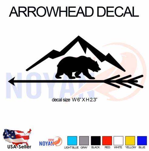 2x ARROWHEAD DECAL VINYL DIE CUT STICKER