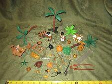 Playmobil Geobra Egyptian Figures Parts Pieces 1990's Treasure Chest Palm Trees
