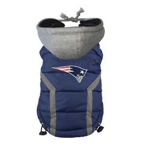 New-England-Patriots-NFL-LEP-Dog-Hoodie-Puffer-Vest-Sizes-S-XXXL