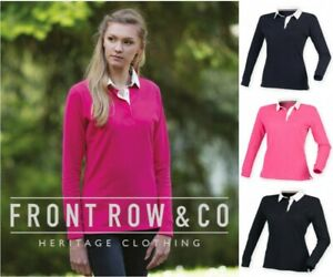Front-Row-femme-super-doux-a-manches-longues-Rugby-Polo-Sailing-Chemise-Slim-Fit