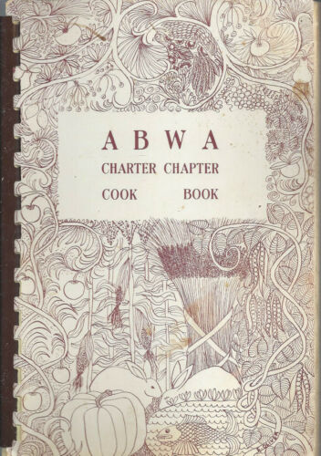 GREENSBORO NC VINTAGE ABWA CHARTER CHAPTER COOK BOOK LOCAL ADS WOMEN'S CLUB