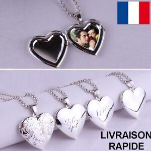 Collier-Pendentif-Coeur-Bijou-Femme-Medaillon-Cadeau-Anniversaire-Fete-Des-Meres