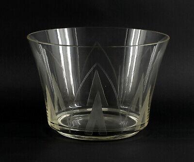 """Verantwortlich 8435041 Große Kristall Glas Schale Bauhaus Otto Rakel Serie """"zeus"""" Um 1940"""