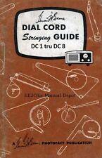 Vintage Tube Radio Dial Cord Stringing Guide * CDROM * PDF * KE3GK