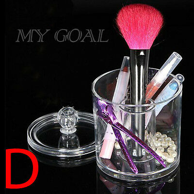 Acrylic Clear Cosmetic Organizer Makeup Case Lipstick Brush Display Holder Stand