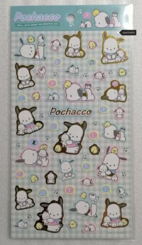 Sanrio 2020 Metallic Gold Character Sticker Sheet Kuromi My Melody Cinnamoroll