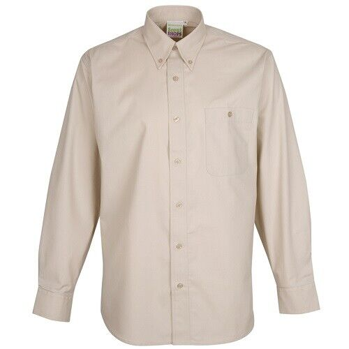 ADULT SCOUT LEADER SHIRT LONG SLEEVE STONE OFFICIAL UNIFORM NEW