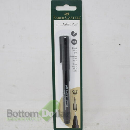 Faber-Castell Black India Ink 0.3 MM Super Fine Pitt Artist Pen