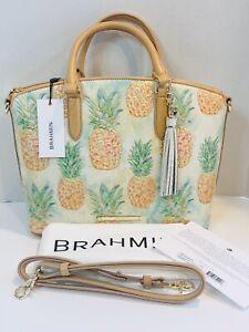 NWT-Brahmin-Duxbury-Multi-Pompano-Pineapple-Leather-Handbag-Satchel-Shoulder-Bag
