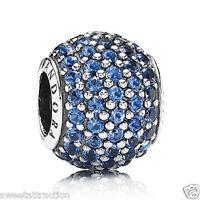 Pandora Charm 791051ncb Blue Pave Lights Bead Box Included