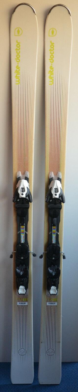 Esquís parabólico usado blancoO MÉDICO FT9 + Fijaciones - 181cm