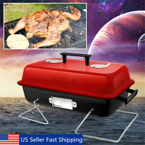 Portable-Barbecue-Charcoal-Grill-BBQ-Stainless-Indoor-Outdoor-Cooking-Grill
