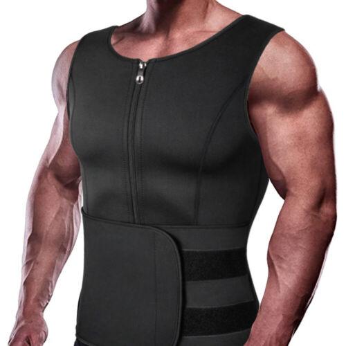 Details about  /Men/'s Weight Loss Workout Neoprene Body Shaper Fat Burner Shirt Sweat Sauna Vest
