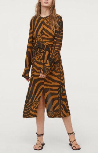 H/&M Studio S//S Collection 2019 Zebra Striped Dress Kleid Mit Zebrastreifen