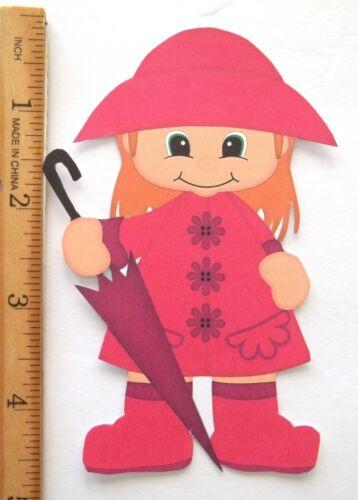 3D U Pick Spring Rainy Day Boy Girl Bear Cat Scrapbook Card Embellishment