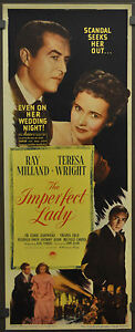 THE-IMPERFECT-LADY-1946-ORIG-14X36-MOVIE-POSTER-RAY-MILLAND-TERESA-WRIGHT