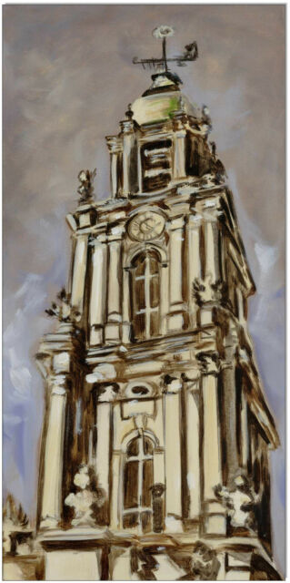 KLAUSEWITZ: ORIGINAL ACRYL GEMÄLDE AUF LEINWAND: GARNISONKIRCHE/ 30x60 cm