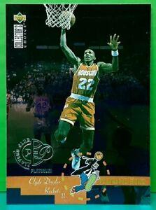 Clyde Drexler insert card Platinum 1995-96 Upper Deck Collector's Choice #199