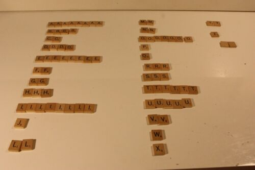 Replacement Scrabble Letters 3//4 inch Tile Pieces by the Letter