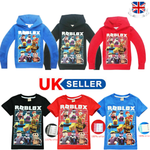 Kids Boys Girls Roblox Casual Hooded Tops Cartoon Hoody Hooded Sweatshirt UK